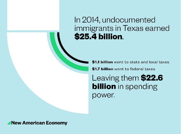 Immigrants earning 2014 in TX
